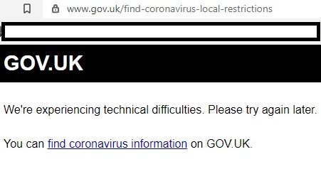gov.uk error